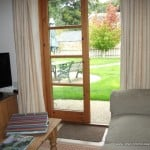 french doors to the garden of new forest holiday cottages